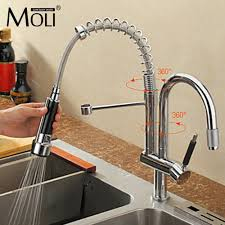 reviews kitchen faucet with two spouts chrome brass swivel kitchen