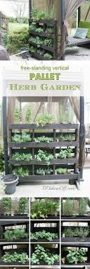 Herb Garden Idea Make Your Own Vertical Pallet Herb Garden For Your Patio Or Porch
