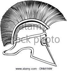 illustration of spartan warrior on black background in 2 color