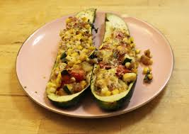 monday after thanksgiving meatless monday zucchini boats with corn and parmesan