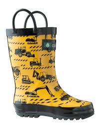 children u0027s rubber rain boots construction vehicles oaki rain