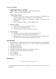 On The Job Training Resume by My Resume