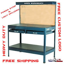 Workbench With Light Garage Workbench Custom Steel Garage Workbench With Stainless