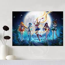 posters for home decor aliexpress com buy new arrive sailor moon canvas silk poster for