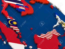 Map Of Countries Map Of Malaysia On Globe With Embedded Flags Of Countries 3d
