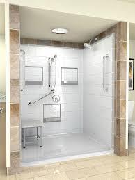 Fiberglass Bathroom Showers Clocks Walk In Shower Insert Shower Stalls With Seat Corner