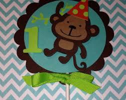 monkey cake topper monkey cake topper etsy