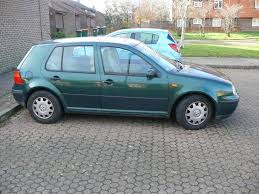volkswagen hatchback 1999 vw golf mk4 1 6sr automatic petrol 1999 green with cream