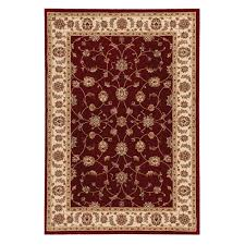 home decorators area rugs home decorators collection claire red beige 5 ft 3 in x 7 ft 5