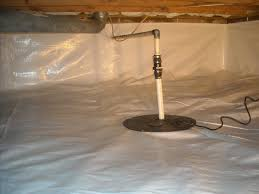 after picture of a sump pump in a crawl space encapsulation system