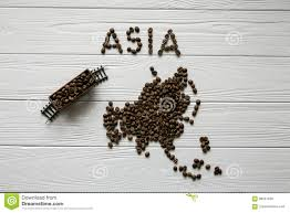 Map Of The Asia by Map Of The Asia Made Of Roasted Coffee Beanmap Of The Asia Made Of