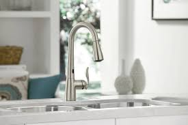 arbor kitchen faucet moen 7594esrs arbor single handle hole pull down kitchen faucet with