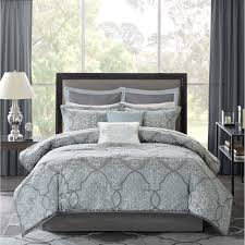 King Bedroom Set Overstock Madison Park Anouk 12 Piece Jacquard Bed In A Bag Set Overstock