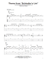 theme schindler s list cello theme from schindler s list guitar tab by john williams guitar tab