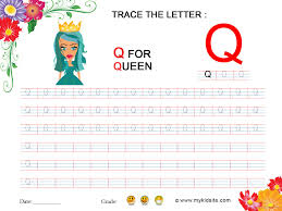 worksheet for letter q