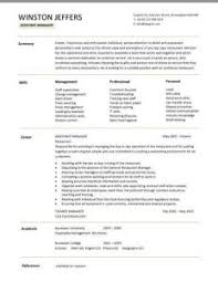 assistant manager resume restaurant manager resume template business