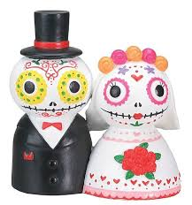 dead skulls wedding cake topper wedding collectibles