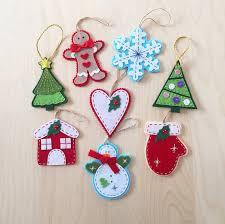 New Year Ornaments Craft Ornaments Set Of 8 Felt Ornaments Handmade Gift New