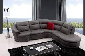 Black Leather Sofa With Chaise Furniture Astonishing Modern Grey Chaise Lounge Leather Sofa