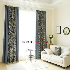 vintage bedroom curtains navy blue floral vintage bedroom curtains buy navy blue print eco