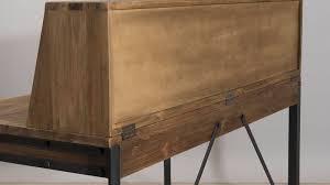 grand bureau en bois bureau bois metal cheap bureau industriel par le marchand d oublis