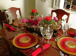 christmas table setting home decor waplag ideas dining fetching