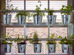 Window Herb Harden | do it yourself window mounted hanging herb garden hgtv