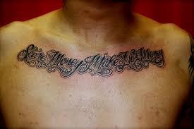 chest script quotes tattoos book