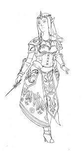 zelda hyrule warriors lineart by lady natsuki on deviantart
