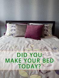 if you want to win make your bed