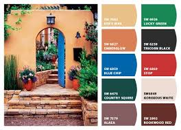 best rustic paint colors with hacienda style color collection on