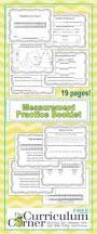 Second Grade Math Practice Worksheets Linear Measurement Practice Booklet The Curriculum Corner 123