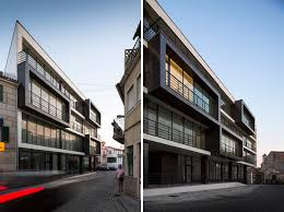 residential architecture design cubed apartment building mixed use residential building by nuno