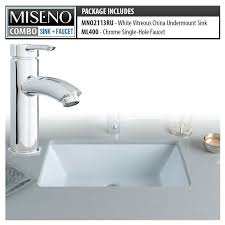 Undermount Bathroom Sink With Faucet Holes by Faucet Com Mno2113ru Mno400 Ch In White Chrome By Miseno