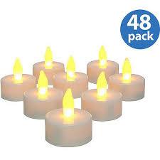 Tea Light Candles Inglow Flameless Tea Light Candles White Set Of 48 Walmart Com