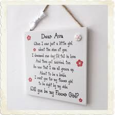will you be my flower girl gifts you be my flower girl wooden plaque gift wedding keepsake