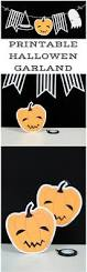 free printable halloween garland print these cute spooky