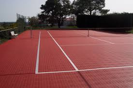 Polypropylene Sports Flooring For Indoor Use For Tennis Courts