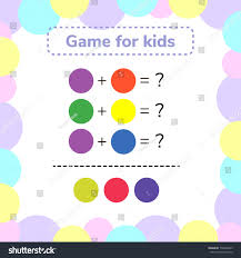 vector illustration game preschool kids rebus stock vector
