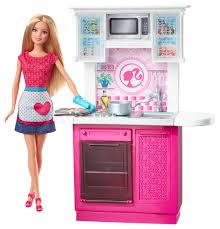 barbie deluxe kitchen furniture and doll
