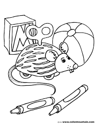 toy mouse coloring picture create a printout or activity