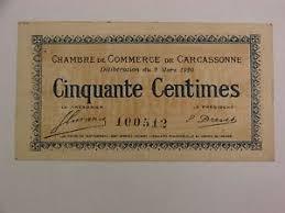 chambre de commerce carcassonne 1920 carcassonne 50 centimes chambre de commerce