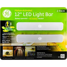 battery powered light bar ge battery operated motion activated 12 inch led light bars 2 pack