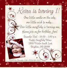winter child birthday invitation red snowflake design