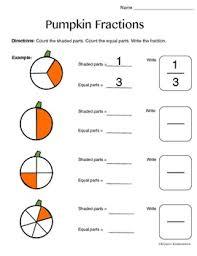 k 1 pumpkin fractions worksheet by klynoot kinderschool tpt