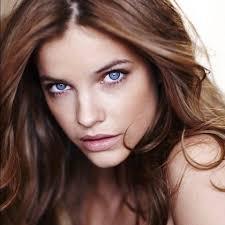 pretty hair color for brown skin chocolate brown hair blue eyes