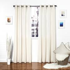 amazon com homier white linen blend window curtain drape panel