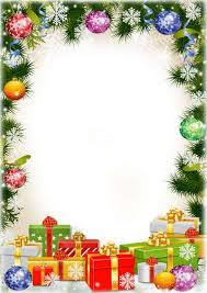 free festive frame psd with gifts for children s photos