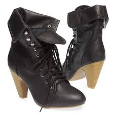 s qupid boots qupid s rockin04 ankle cuff fold lace up toe high