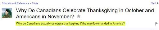do canadians celebrate thanksgiving